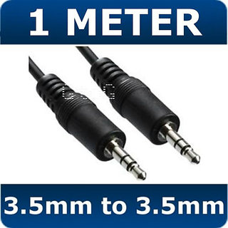 1M 3.5mm Jack to 3.5mm Jack Audio IPOD AUX MP3 Cable