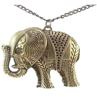 PRODUCTMINE Vintage Style Elephant long chain Pendants Necklaces