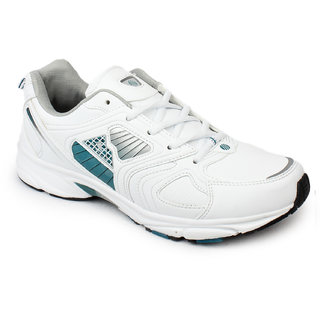 Action Shoes Men White And Green Sports Shoes