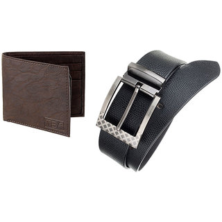The Blue Pink Special Combo of 2 in1 Rich Pu Leather Wallet And Genuine Leather Belt (AST02-DINO0801) (Synthetic leather/Rexine)