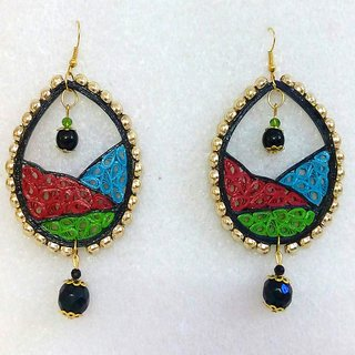Women light wait earrings Black, red, green n blue