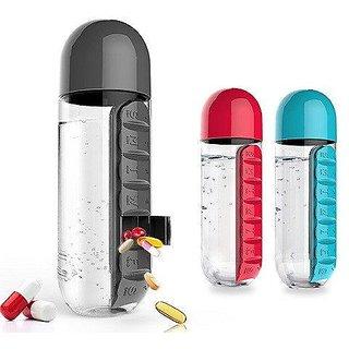 Pills reminder 7 days water bottle