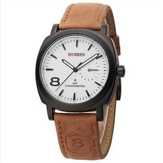 New curren Latest designing white dile men watch