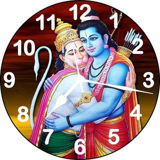 ske 3D ramji and hanumanji wall clock