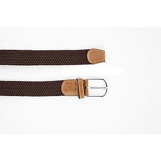Dapper Homme Brown Color Elastic Fabric Belt For Mens