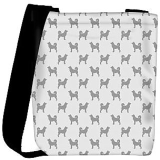 Snoogg Grey Dog Designer Womens Carry Around Cross Body Tote Handbag Sling Bags RPC-10286-SLTOBAG