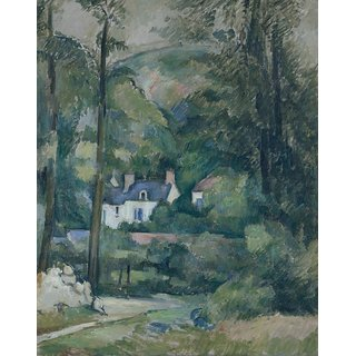 The Museum Outlet - Houses through the Trees, 1881 - Poster Print Online Buy (24 X 32 Inch)