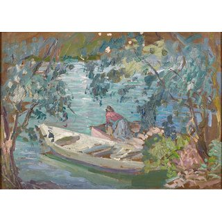 The Museum Outlet - Laundering on the Bank of the Marne, 1906-07 - Poster Print Online Buy (24 X 32 Inch)