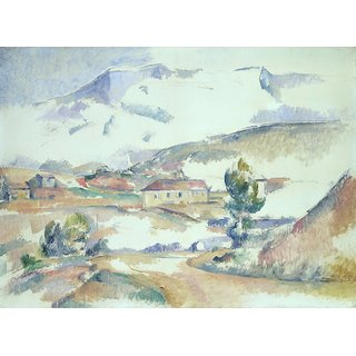 The Museum Outlet - Mount Sainte-Victoire, from near Gardanne, 1887 - Poster Print Online Buy (24 X 32 Inch)