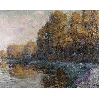 The Museum Outlet - River in Autumn, 1919 - Poster Print Online Buy (24 X 32 Inch)