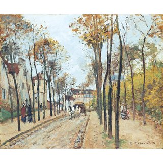 The Museum Outlet - The Boulevard des Fosses, Pontoise, 1872 - Poster Print Online Buy (24 X 32 Inch)