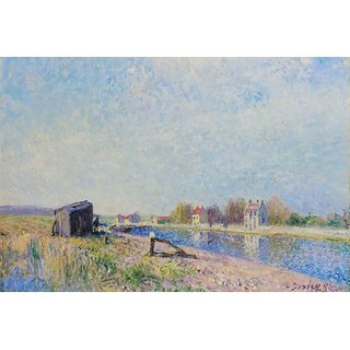 The Museum Outlet - The Channel of Loing at Saint-Mammes, 1884 - Poster Print Online Buy (24 X 32 Inch)