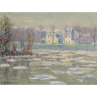 The Museum Outlet - The Oise at Winter - Poster Print Online Buy (24 X 32 Inch)