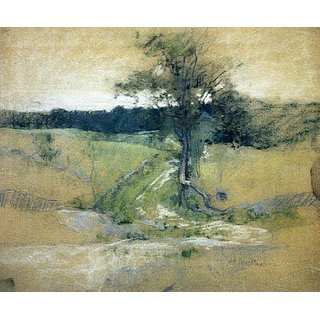 The Museum Outlet - Tree by a Road, 1889 - Poster Print Online Buy (24 X 32 Inch)
