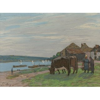 The Museum Outlet - The Cows at Pasture, 1897 - Poster Print Online Buy (24 X 32 Inch)