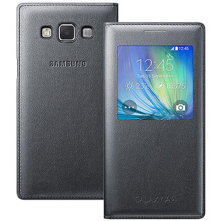 Samsung Galaxy J7 2016 Edition Leather Flip Cover Black Color