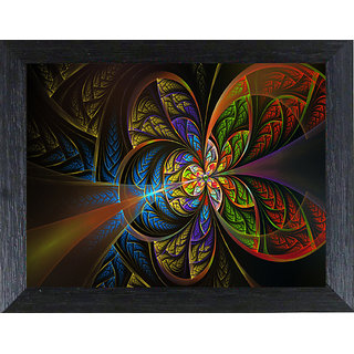 MLH Handicraft Digital Abstract Textured Reprint Framed Natural Colors Painting