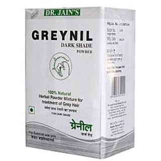 Dr. Jains Greynil Dark Shade Herbal Hair Colour Treatment - 100g (Set of 5)