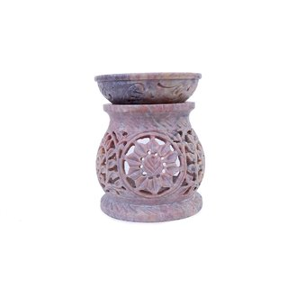 Creative Crafts Gorara Stone Aroma Diffuser Medium with carving Home Decorative Handicraft Gift