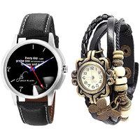 Jack Klein Round Dial Elegant Analog Wrist Watches