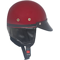 Fashno Stylist Motorbike, Scooter Dark Red Color Half Helmet (FP-DRED-HLMT-16)