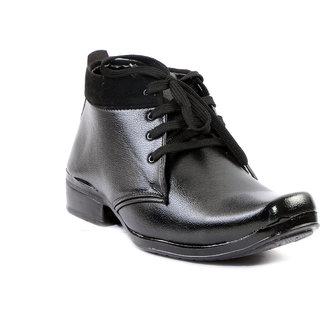 Indo Black Long Boot Shoes (DVR0003NL-P190P-FW-M-AG) For Men