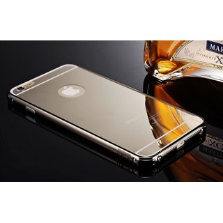 Luxury Metal Bumper Silver With Backside Cover For I Phone 6 Plus