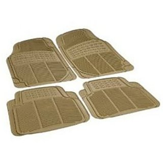 Beige Colour Rubber Foot Mat for Car Floor Universal Size