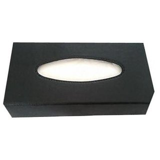 New Leather Tissue Box Holder in Black Color for car