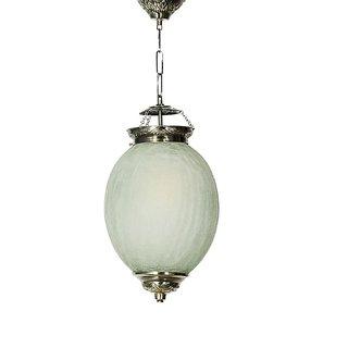 Fos Lighting Chandni Crackle Oval Big Hanging Light