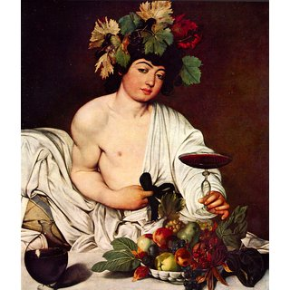The Museum Outlet - Bacchus by Caravaggio - Poster Print Online Buy (24 X 32 Inch)