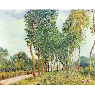 The Museum Outlet - Banks of the Loing in Moret by Sisley - Poster Print Online Buy (24 X 32 Inch)