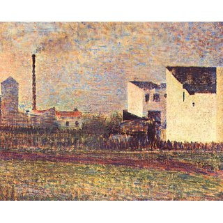 The Museum Outlet - Banlieue by Seurat - Poster Print Online Buy (24 X 32 Inch)