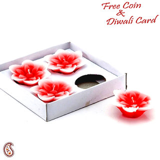 Floating Aroma Wax Candles In Set Of 04