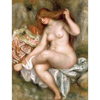 The Museum Outlet - Large Bather with Crossed Legs, 1904 04 - Poster Print Online Buy (30 X 40 Inch)