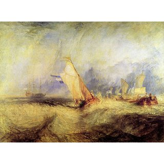 The Museum Outlet - Ships at sea by Joseph Mallord Turner - Poster Print Online Buy (24 X 32 Inch)