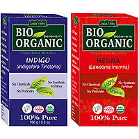 Indus Valley BIO Organic INDIGO + RED HENNA- Hair Coloring Kit