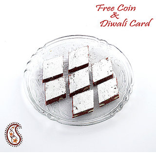 Kajoo Chocolate Barfi With Free Laxmi Ganesh Coin