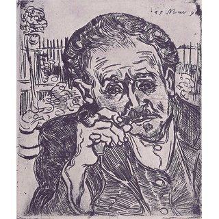 The Museum Outlet - Man with pipe (Portrait of Dr. Gachet) by Van Gogh - Poster Print Online Buy (24 X 32 Inch)