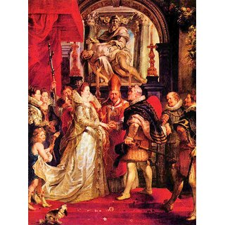 The Museum Outlet - Medici Marriage in Florence by Rubens - Poster Print Online Buy (24 X 32 Inch)