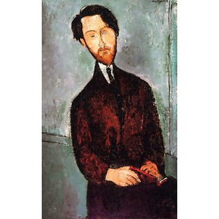 The Museum Outlet - Modigliani - Portrait of Leopold Zborowski 3 - Poster Print Online Buy (24 X 32 Inch)