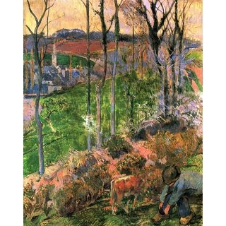 The Museum Outlet - Small Breton Wooden Shoe by Gauguin - Poster Print Online Buy (24 X 32 Inch)