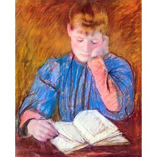 The Museum Outlet - Thoughtful reader by Cassatt - Poster Print Online Buy (24 X 32 Inch)