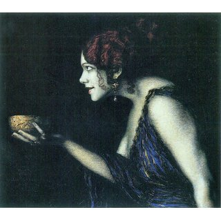 The Museum Outlet - Tilla Durieux as Circe by Franz von Stuck - Poster Print Online Buy (24 X 32 Inch)
