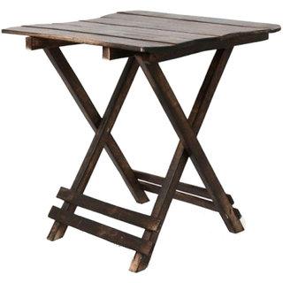 ikashan Brown Wooden Side Table tt