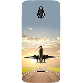 Casotec Airplane Design 3D Printed Hard Back Case Cover for Infocus M2