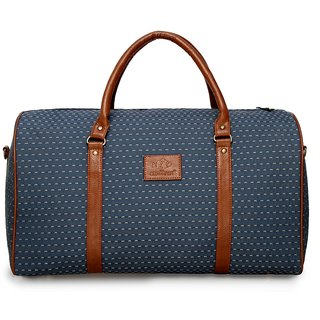 The Clownfish Tapestry Travel Duffle Luggage Weekender Bag (Blue)
