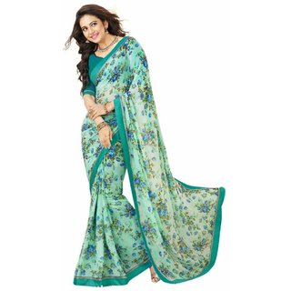 Snapshopee Multi coloured Georgette(Waightless) Saree  (59AAYESHA17252)