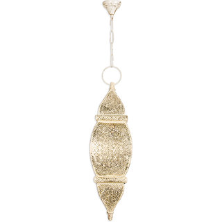 Fos Lighting Moroccan White Gold Pendant Light