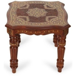 ikashan Brown Wooden Coffee Table